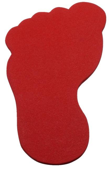 Sport-Thieme® Bodenmarkierung Fuß, 19 cm, Rot