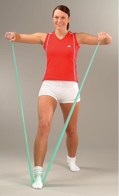 Sport-Thieme® Fitness-Band 75 2 m x 7,5 cm, Grün = leicht