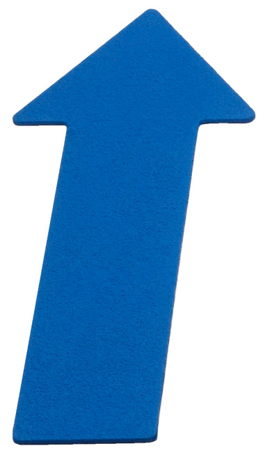 Sport-Thieme Floor Marker Arrow, 35 cm, Blue