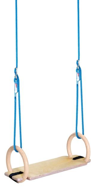Sport-Thieme® Schaukelringe-Set für Innen  Mit Schaukelbrett