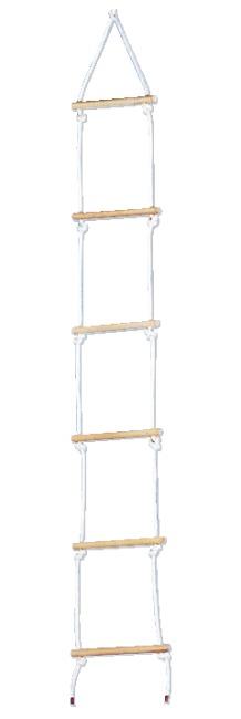 Sport-Thieme Strickleiter aus Sisal Mit 6 Sprossen, 2 m lang