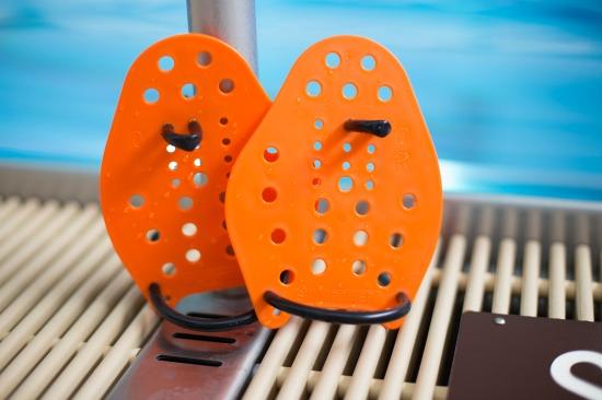Sport-Thieme® Swim-Power® Paddles Größe XS, 17x13 cm, Orange