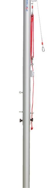 Sport-Thieme® Volleyball-Mittelpfosten ø 83 mm Mit Flaschenzugsystem