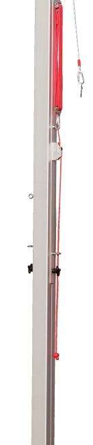 Sport-Thieme® Volleyball-Mittelpfosten 80x80 mm Mit Flaschenzugsystem