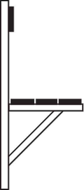 Sypro Wolf® Wandbank für Feuchträume 1,01 m