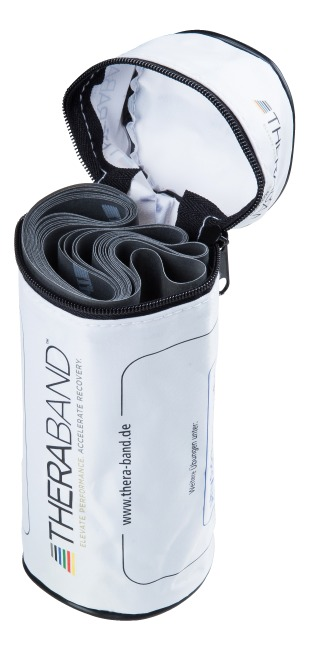 Thera-Band®, 2.5 m in a zip-up bag Black, very high