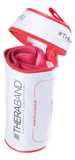 Thera-Band® 250 cm. i pose med lynlås Rød, medium