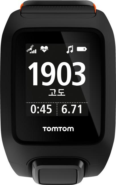 TomTom Adventurer Cardio + Music Schwarz