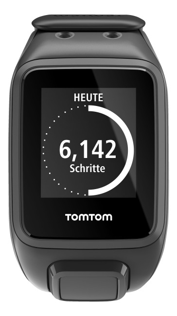 """TomTom Sportuhr Runner 2 """"Cardio + Music"""" Schwarz/Anthrazit, L"""