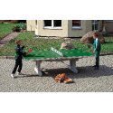 "Sport-Thieme ""Premium"" Polymer Concrete Table Tennis Table Green, Short legs, free-standing"