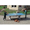 "Sport-Thieme ""Premium"" Polymer Concrete Table Tennis Table Blue, Short legs, free-standing"
