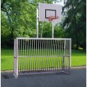 Sport-Thieme® Vollverschweißtes Bolzplatztor  300x200x60 cm mit Basketball-Zielbrett