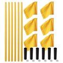 "Sport-Thieme® ""All-Round"" Boundary Pole Set Yellow pole, neon yellow flag"