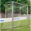 Sport-Thieme® aluminium small pitch goal, 3x2 m, square tubing, free-standing or fitted into ground sockets In ground sockets