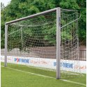 Youth football goal 5x2 m, oval tubing, socketed, with welded mitre joints
