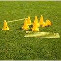 Set Kegel-Hürden 30 cm Kegel, Gelb