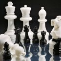 Floor Chess Pieces Standing area ø 22.5 cm, height of king 64 cm