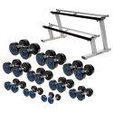 Sport-Thieme® Compact PU Dumbbell Set 2.5-25 kg, incl. dumbbell stand
