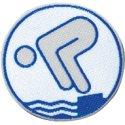 Jugend-Schwimmabzeichen Silber, Mit Bügelbeschichtung, rund lasergeschnitten