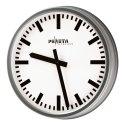 Peweta® Wetterfeste Außenuhr Ballwurfsicher, Zifferblatt DIN-Balken