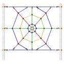Huck Vario-Kletterpark, Einzelelemente Spinnennetz