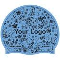 Sport-Thieme® Bedruckte Badekappe Latex Hellblau, 1-seitig