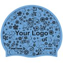 Latex Printed Swimming Cap Light blue, Double-sided