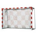 Handball Goal Nets with Chessboard Pattern White/red