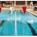 Sport-Thieme Wimpelketten Rot-Weiß, FINA-Norm, Wimpel 20x40 cm, Rot-Weiß, FINA-Norm, Wimpel 20x40 cm