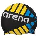 """Arena® Badekappe """"Print 2"""" Strobe Black"""