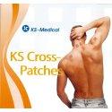 """KS-Medical KS Gittertape """"Cross-Patches"""" 180 Pflaster 27x21 mm, Beige"""