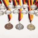 """Teilnehmer Medaillen-Set """"Winner"""", inkl. Medaillenband Bronze, Set mit 25 Medaillen, Set mit 25 Medaillen, Bronze"""