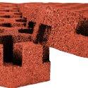 "Gum-Tech Rasengitter ""Hexagon"" 6,5 cm, Rot"