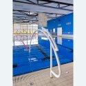 Sport-Thieme Durchschwimmbogen, Alu, weiß einbrennlackiert, inkl. Hinweisschild Mit Bodenhülse