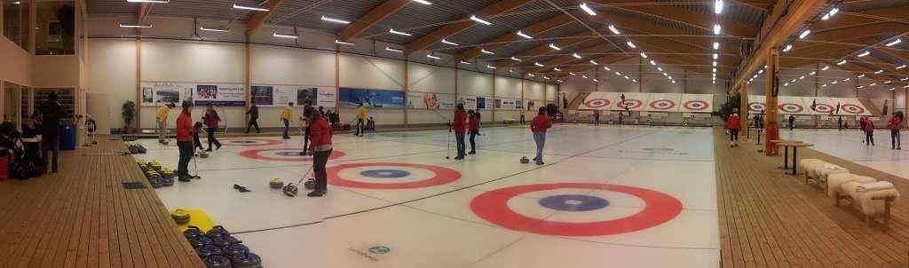 Sport Curling auf unserer Exkursion durch Schweden