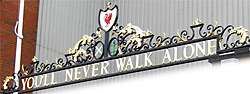 Anfield Road Fußballstadion: You'll never walk alone