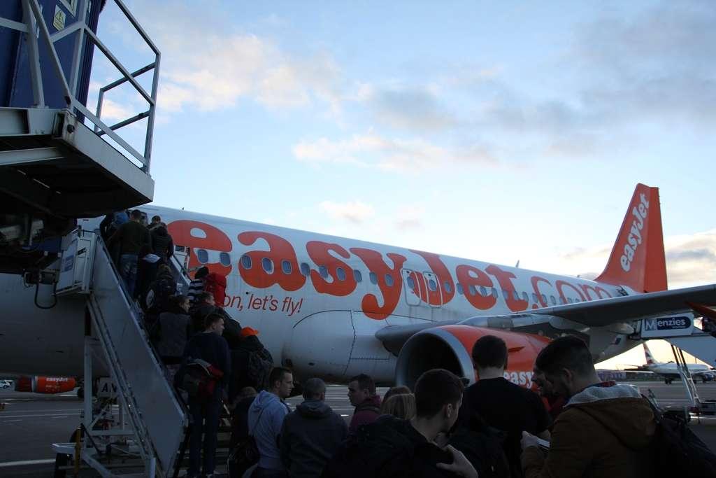 Flug in die Heimat