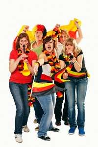female german soccer fans