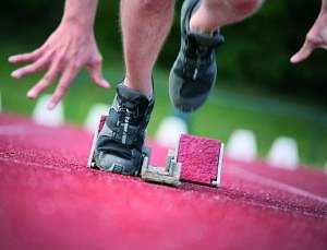 Leichtathletik Sprinter Start