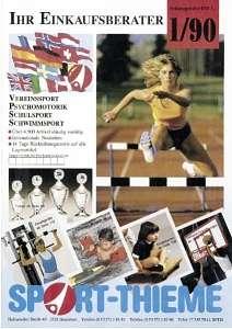 Das ist das Deckblatt des Sport-Thieme Katalogs von 1990