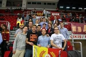 Der Besuch des Euro-League Spiels von Galatasaray Istanbul bildete einen gebührenden programmatischen Endpunkt der Reise.
