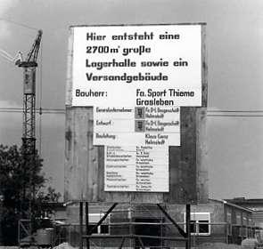 Sport-Thieme Baustelle 1971