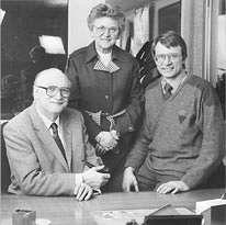 Karl Heinz, Erika und Hans-Rudolf Thieme, 1982