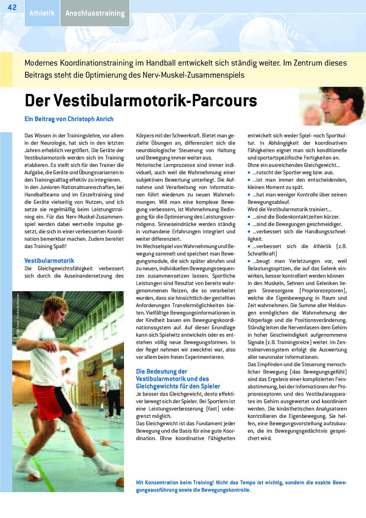 Der Vestibularmotorik-Parcours