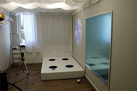 Snoezelen-Raumplanung: Musikwasserbett
