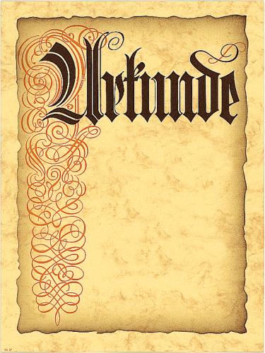 """Urkunde """"Jubiläum und Mitgliedschaft"""""""