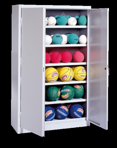 Ball Cabinet, HxWxD 195x120x50 cm, with Sheet Metal Wing Doors (type 3)