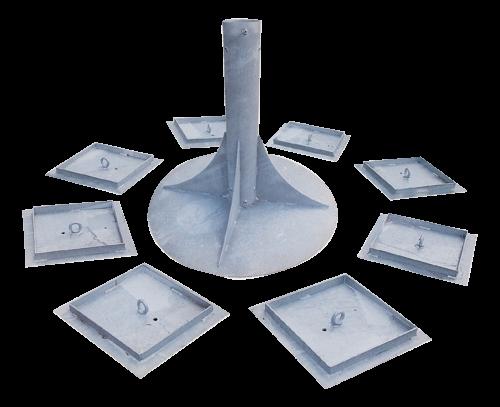 Huck Seiltechnik Eingrab-Erdankerset für Cheops-Pyramiden