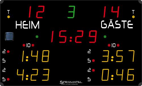"Stramatel ""452 GE 9000"" Ice Hockey Scoreboard"