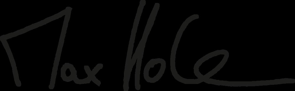 Unterschrift von Maximilian Hohe